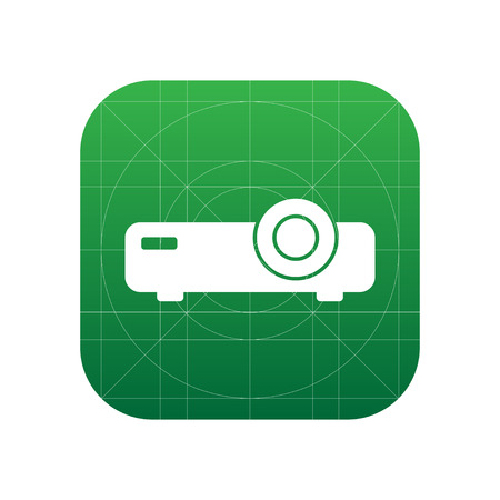 Projector sign icon, vector illustration. Projector symbol. Flat icon. Flat design style for web and mobile. Illustration