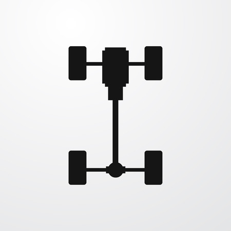 axle: axle icon illustration isolated vector sign symbol