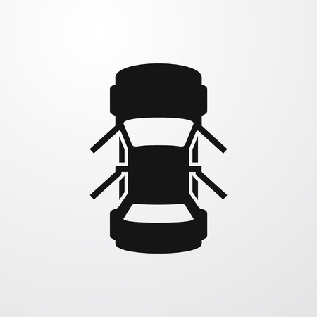 auto met geopende deuren pictogram illustratie geïsoleerde vector teken symbool