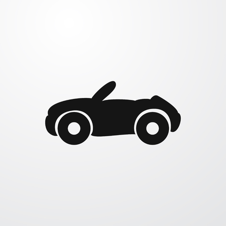 cabriolet: cabriolet icon illustration isolated vector sign symbol Illustration
