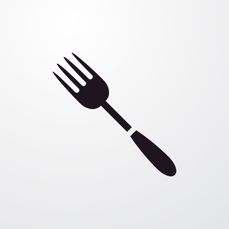 fork icon illustration isolated vector sign symbol Illustration