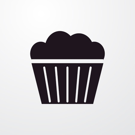 muffin: muffin icon illustration isolated vector sign symbol