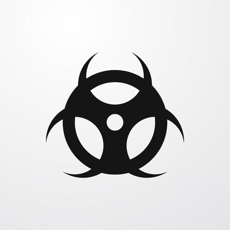 chemical weapon symbol: hazard icon illustration isolated vector sign symbol Illustration