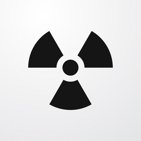 caution chemistry: radiation icon illustration isolated vector sign symbol Illustration