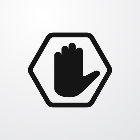 single entry: hand warning icon illustration isolated vector sign symbol Illustration