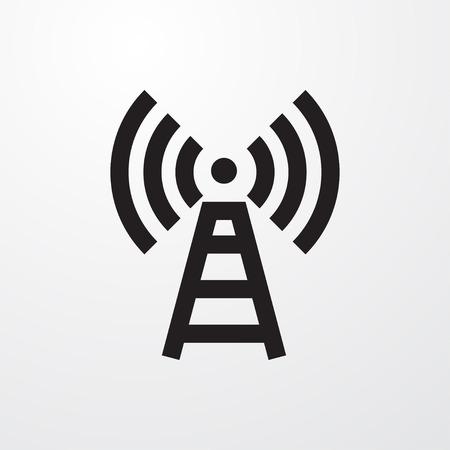 transmitter icon illustration isolated vector sign symbol Illustration