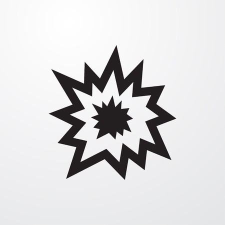 explode icon illustration isolated vector sign symbol Illustration
