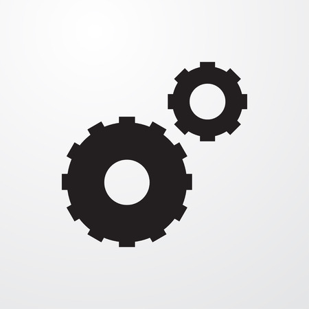 mechanism of progress: gear icon illustration isolated vector sign symbol