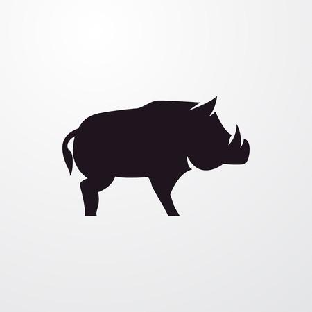 cinghiale icona segno vettoriale isolato simbolo Vettoriali