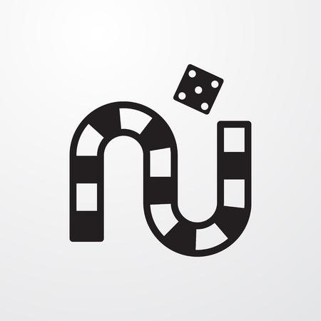 gun control: dice game icon illustration isolated vector sign symbol Illustration