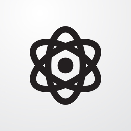 neutron: atom icon illustration isolated vector sign symbol