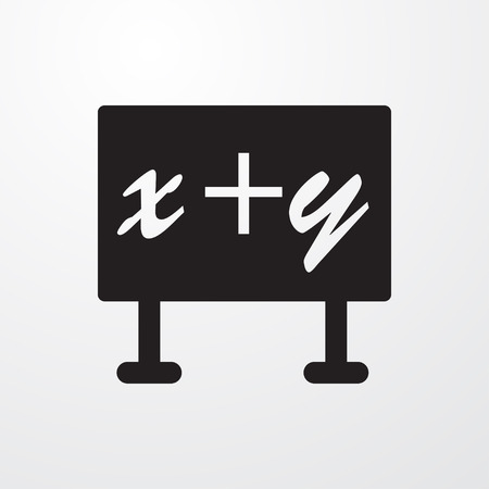 xy: blackboard x+y icon illustration isolated vector sign symbol