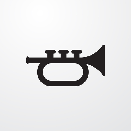 trumpet icon illustration isolated vector sign symbol