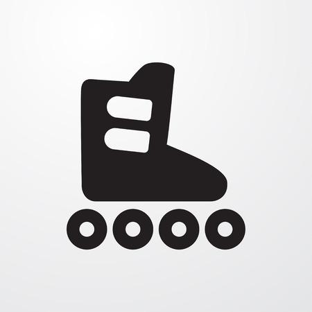 inline skating: roller skate icon illustration isolated sign symbol