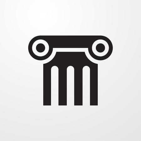 roman pillar: column icon illustration isolated sign symbol Illustration