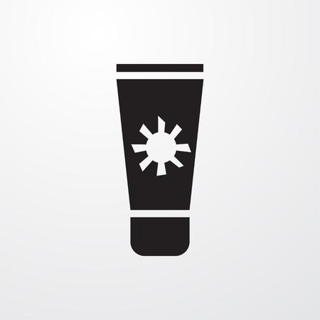 sun cream: sun cream icon illustration isolated sign symbol