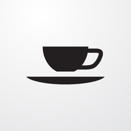 coffe break: cup icon illustration isolated sign symbol Illustration