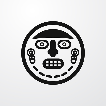 aborigine: ritual icon icon illustration isolated sign symbol