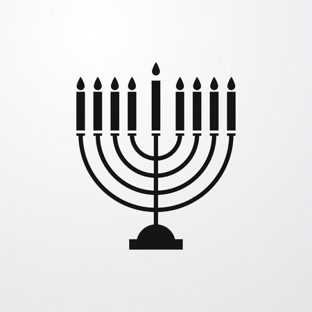 candelabrum: menorah icon illustration isolated sign symbol Illustration