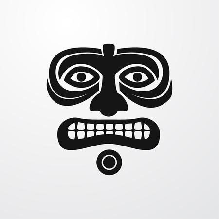 ritual: ritual mask icon illustration isolated sign symbol