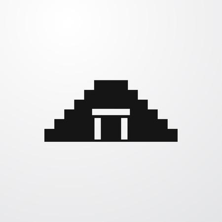 chichen itza: Chichen itza icon illustration isolated sign symbol