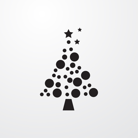 christmas tree illustration: Christmas tree icon illustration isolated sign symbol Illustration