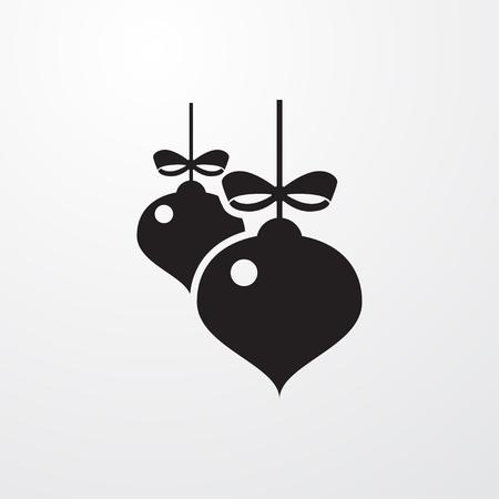 christmas tree illustration: christmas tree icon illustration isolated sign symbol