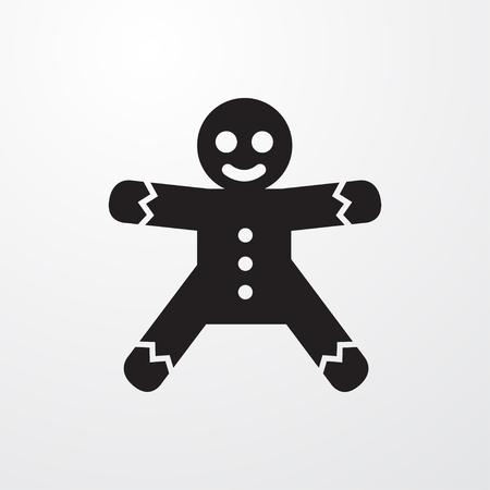 Gingerbread icon illustration isolated  symbol