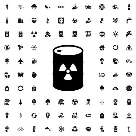 radiation on barrel icon illustration isolated vector sign symbol