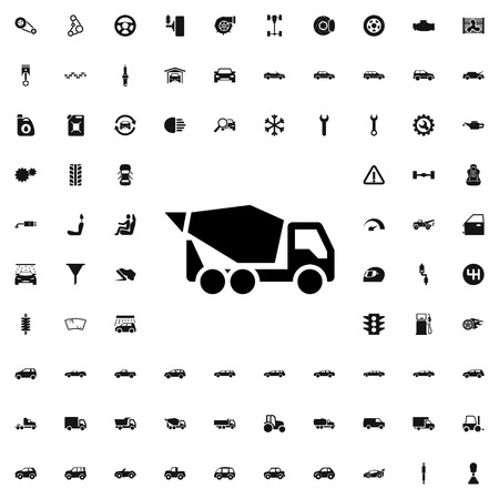 construction icon: concrete mixer icon illustration isolated vector sign symbol