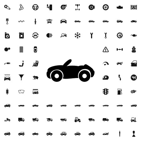 cabriolet: cabriolet icon illustration isolated vector sign symbol Illustration