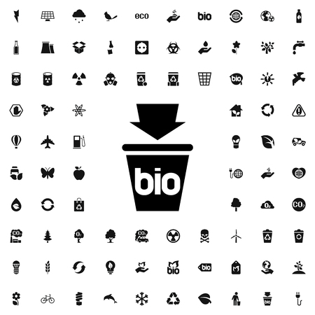bio trash icon illustration isolated vector sign symbol Illustration