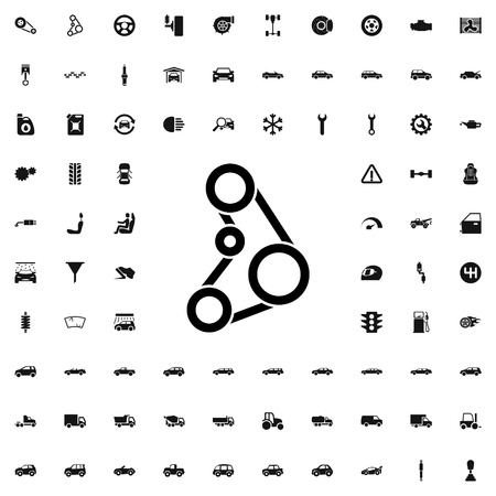 timing belt: driving belt icon illustration isolated vector sign symbol Illustration
