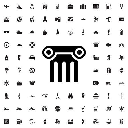 roman pillar: column icon illustration isolated vector sign symbol