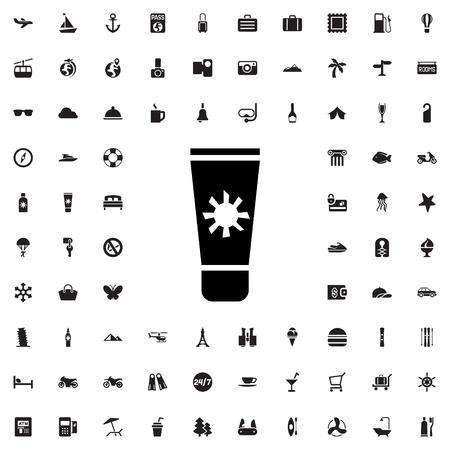 sun cream: sun cream icon illustration isolated vector sign symbol Illustration