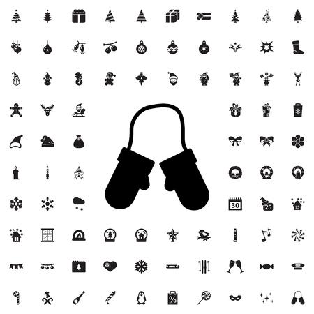 mitten: mitten icon illustration isolated vector sign symbol