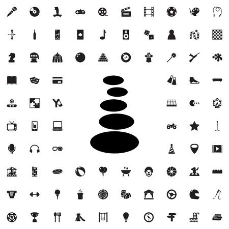 spa stone: spa stone icon illustration isolated vector sign symbol