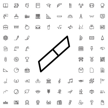 eraser: eraser icon illustration isolated vector sign symbol Illustration
