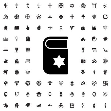 scripture: scripture icon illustration isolated vector sign symbol Illustration