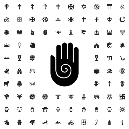 ahimsa: jainism icon illustration isolated vector sign symbol