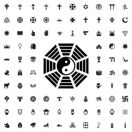 yin yang icône illustration isolé vecteur signe symbole