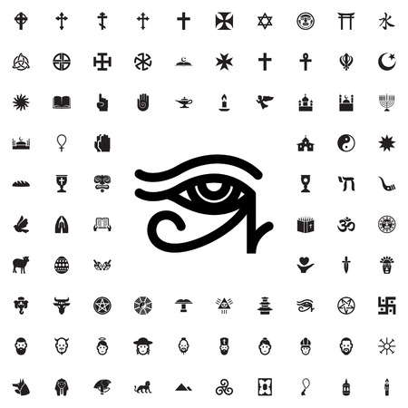 provide: egypt eye icon illustration isolated vector sign symbol