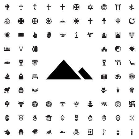 Egipto icono de la pirámide de la ilustración símbolo vector aislado