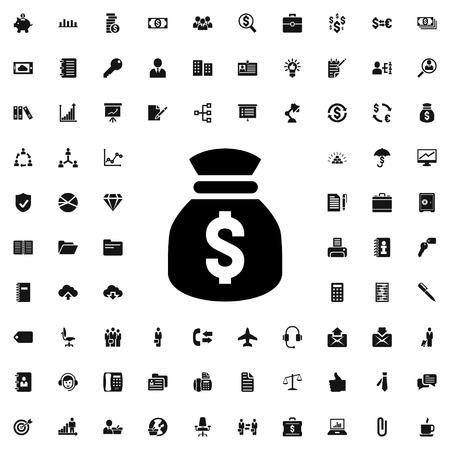 money sack: money sack icon illustration isolated vector sign symbol