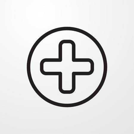plus icon illustration isolated vector sign symbol