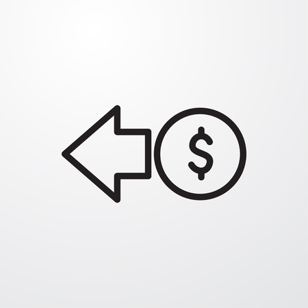 coin icon illustration isolated vector sign symbol