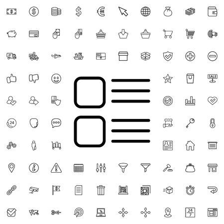 Menu icône illustration vecteur isolé signe symbole Vecteurs
