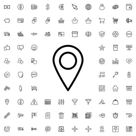 icona di posizione illustrazione isolato vettore segno simbolo