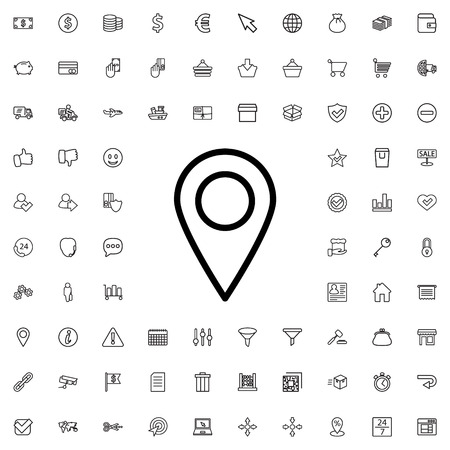 location icon illustration isolated vector sign symbol