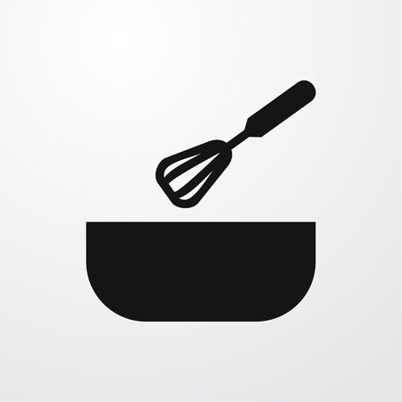 bowel: whick and bowel icon illustration isolated vector sign symbol